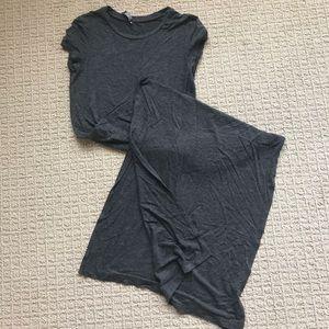 Dark gray maxi dress